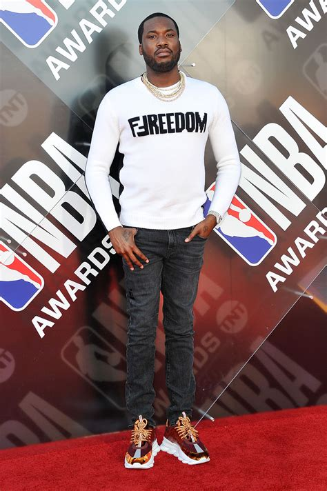 Meek Mill attends the 2018 NBA Awards Show at Barker