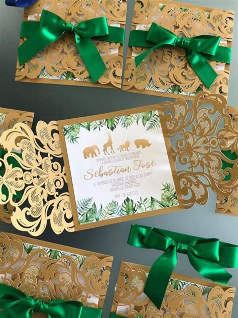 Gold and Hunter Green Safari Baby Shower - Baby Shower