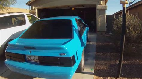 Grabber Blue 1989 Ford Mustang LX Foxbody Hatch - YouTube