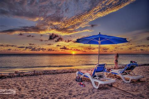 Sunset at Curacao Island Beach   HDR Photography by
