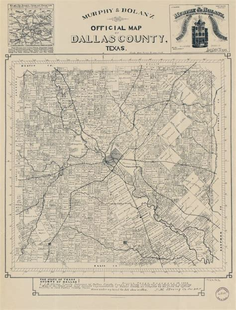 Official map of Dallas County, Texas | Library of Congress