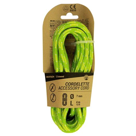 Climbing and Mountaineering Cordelette 7 mm x 4 m - Green