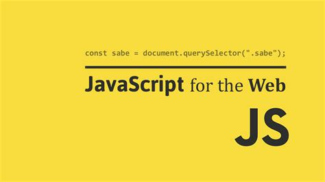 JavaScript for the Web ← Sabe