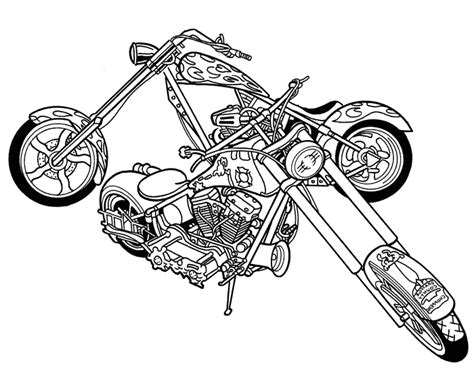 motorcycle coloring pages coloring