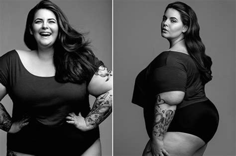 Plus size supermodel Tess holliday flaunts body in black