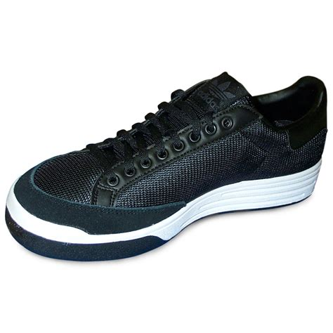 Adidas Rod Laver Tennis Shoes Black/White | World Footbag