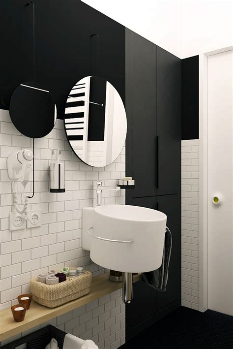 Tiny Apartment In Black And White Charms With Space-Saving