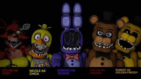 Withered Cast for FNAF THE MOVIE by Cztvproductions on