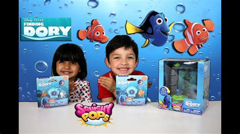 Finding Dory Squishy Pops Surprises and Play Set - YouTube