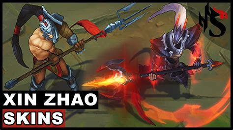 All Xin Zhao Skins Spotlight (League of Legends) - YouTube