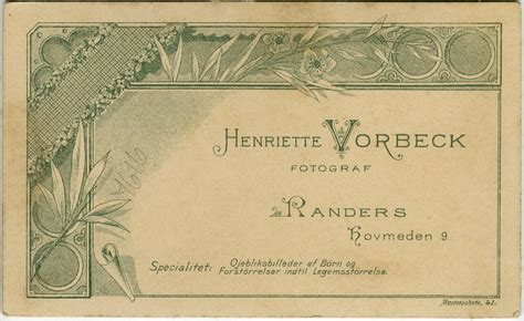 Vorbeck, Henriette, Randers - History of photography