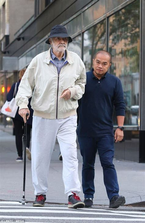 Keeping active: Sean Connery was sported on a walk with