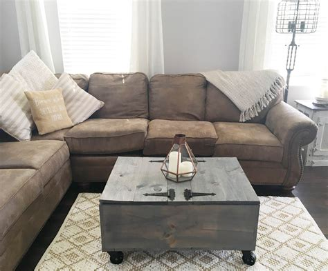 Coffee table with gray stain