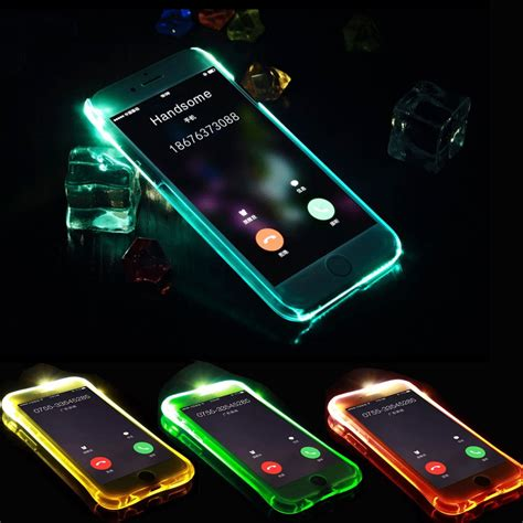 Luxury Soft TPU LED Flash Light Up Case Remind Incoming