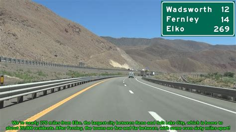 Interstate 80 East from Sparks to Fernley, Nevada - YouTube