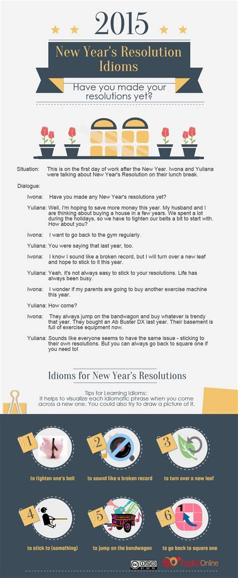 New Year's Resolution Idioms – Live & Learn