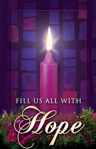 """Church Bulletin 14"""" - Advent 1 - Fill Us All With Hope"""