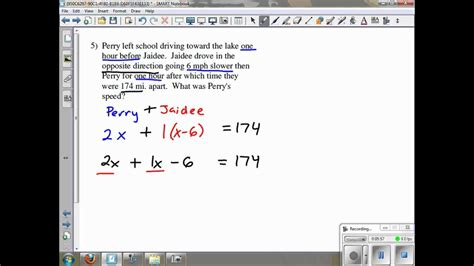 Distance Rate Time Word Problems Kuta Software Infinite