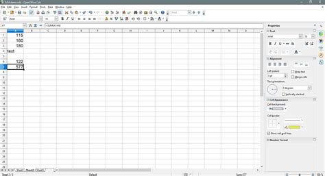 How to Add up Columns or Rows of Numbers in Open Office Calc